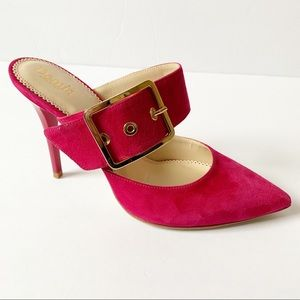 DEMIS MADE IN ITALY POINTY BUCKLE MULES